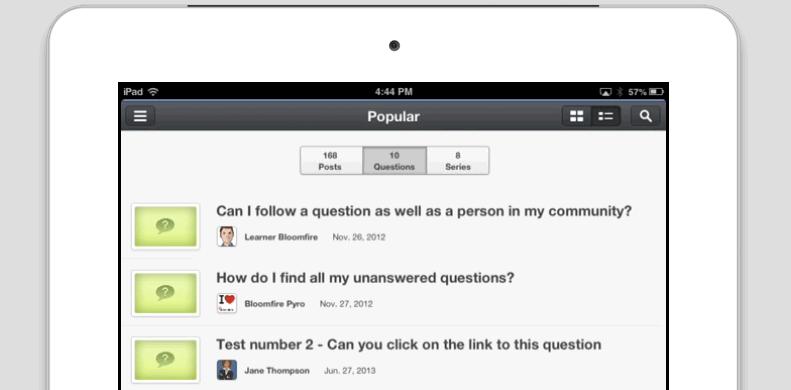 Screenshot of Mobile Learning