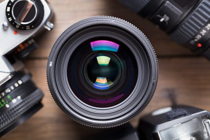camera lens for capturing videos for businesses