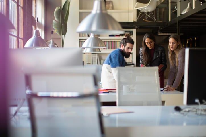 millennial employees have an informal meeting
