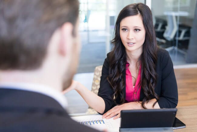 in person interview shows one strategy to get content from subject matter experts