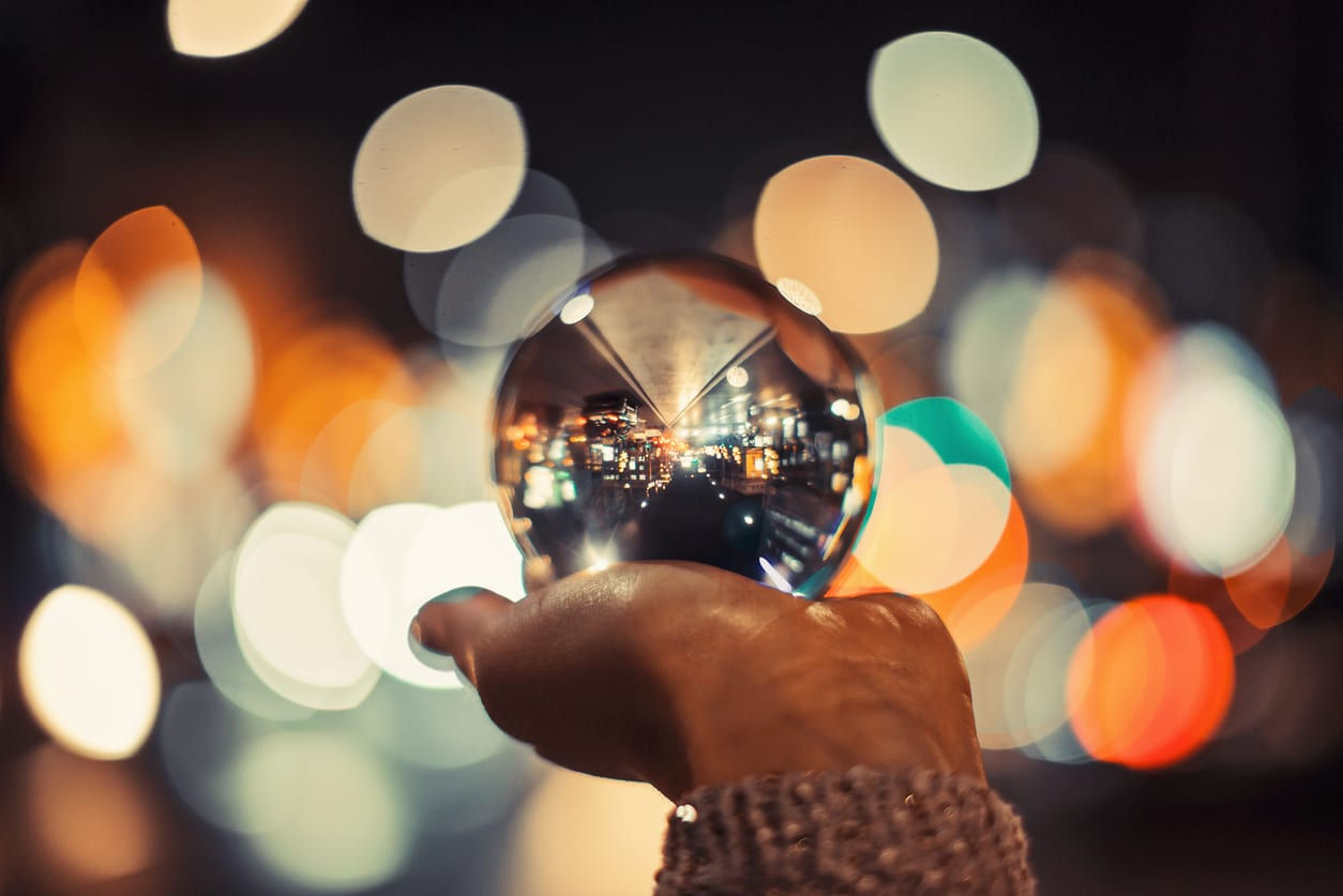 crystal ball representing CX trends predictions