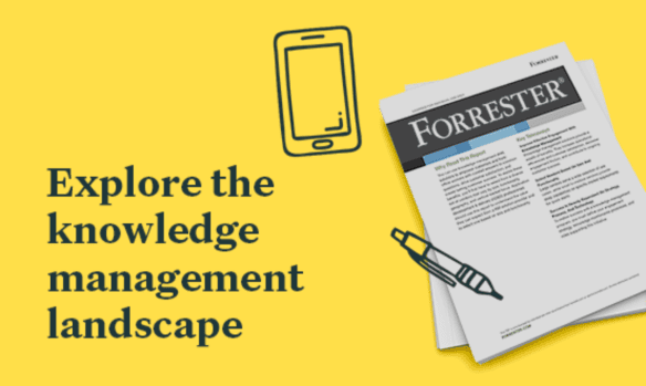Forrester Now Tech: Knowledge Management for Customer Service