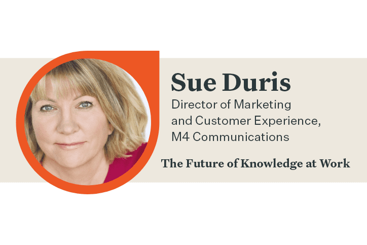 Sue Duris Future of Knowledge at Work headshot