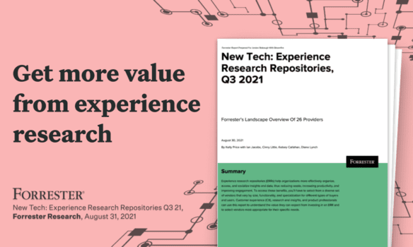 Forrester Research | New Tech: Experience Research Repositories